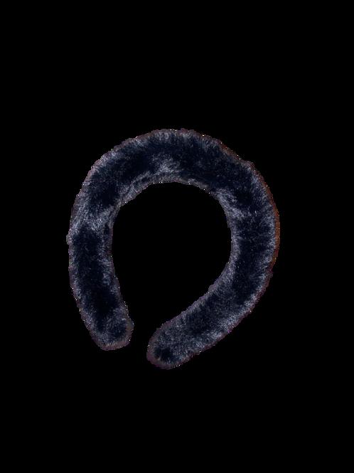 Black Fur Headband