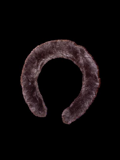 Brown Fur Headband