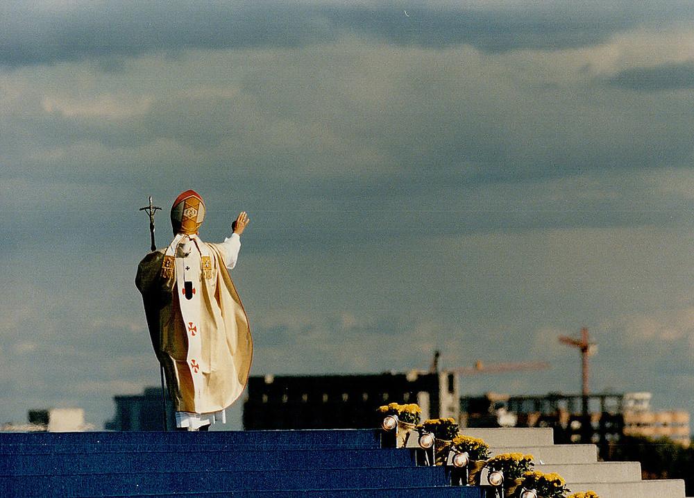 Pope John Paul II holds the Downsview Mass, 1984