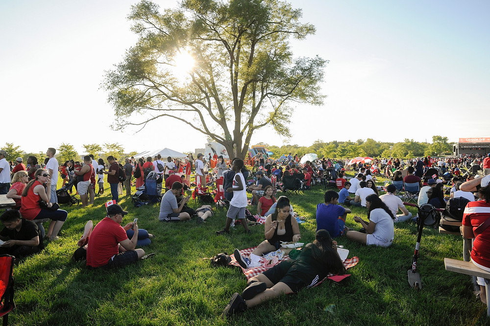 Canada Day celebrations in Downsview Park in 2019