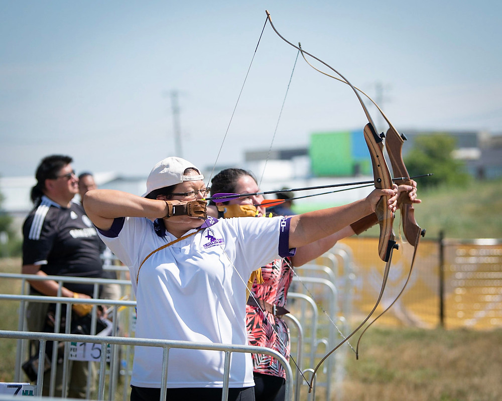 Athletes in the Masters Indigenous Games archery competition showcased their skills and celebrated an ancestral connection. The bow and arrow was used by many nations for both hunting and social games since time immemorial.