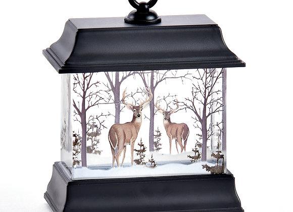LED Water Lantern Woodland Scene