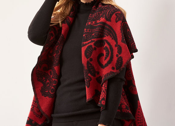 Reversible Circle Cape with Jacquard