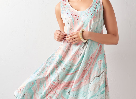 Marble Dye Dress -  3 Assorted Colors