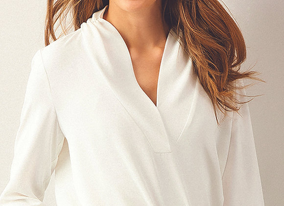 Rouched Neck Blouse - 2 Assorted Colors