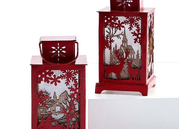 LED Lantern Ornament 2 Asst Designs