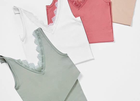 Layering Lace Top -  4 Assorted Colors