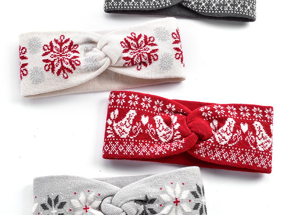 Christmas Headwarmers - 4 Assorted Colors