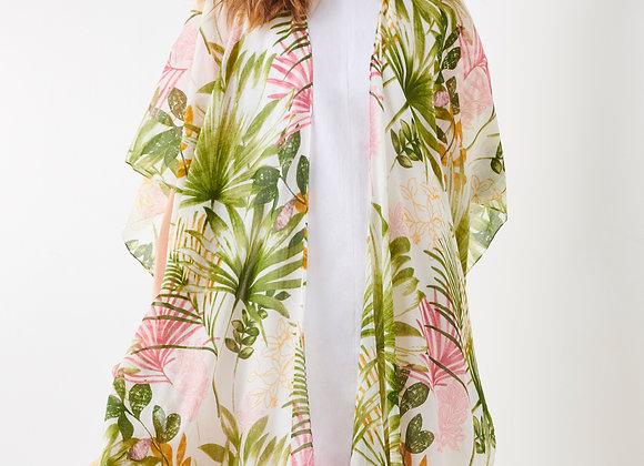 Pink Palm Print Cape