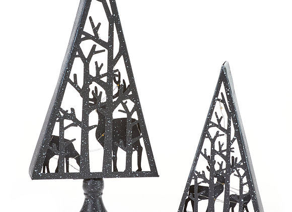 Metal LED Tree Reindeer Decorations/set of 2