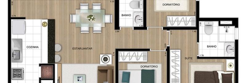 KIT COMPLETO SOB MEDIDA - APTO 3D/ NEW LIFE