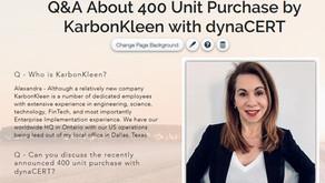 Interview with Alexandra MacMurchie Regarding KarbonKleen's 400 Seat Purchase