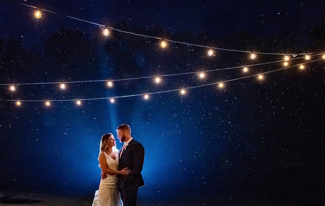 Bride and Groom night photography