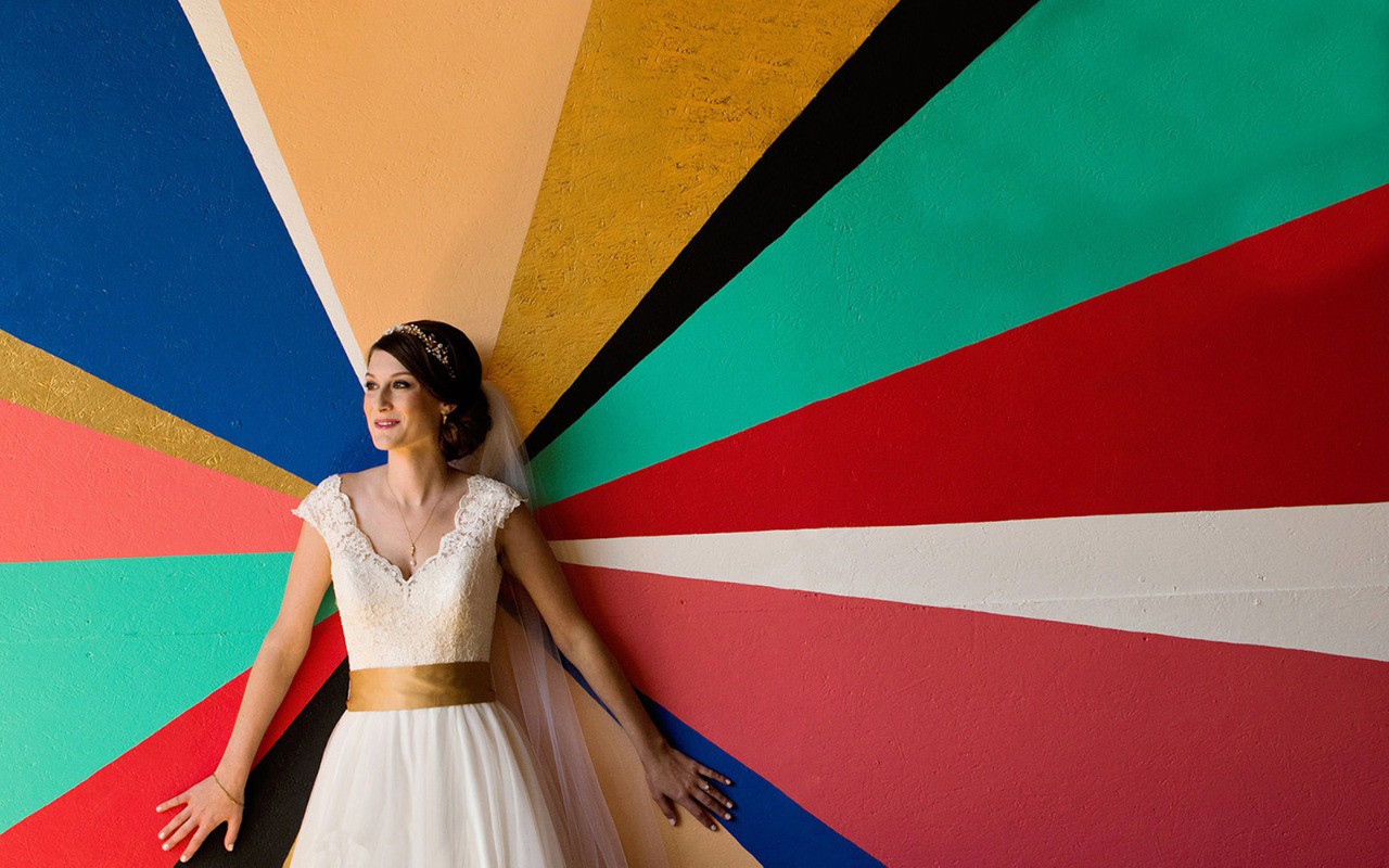 Colorful Bride Portrait