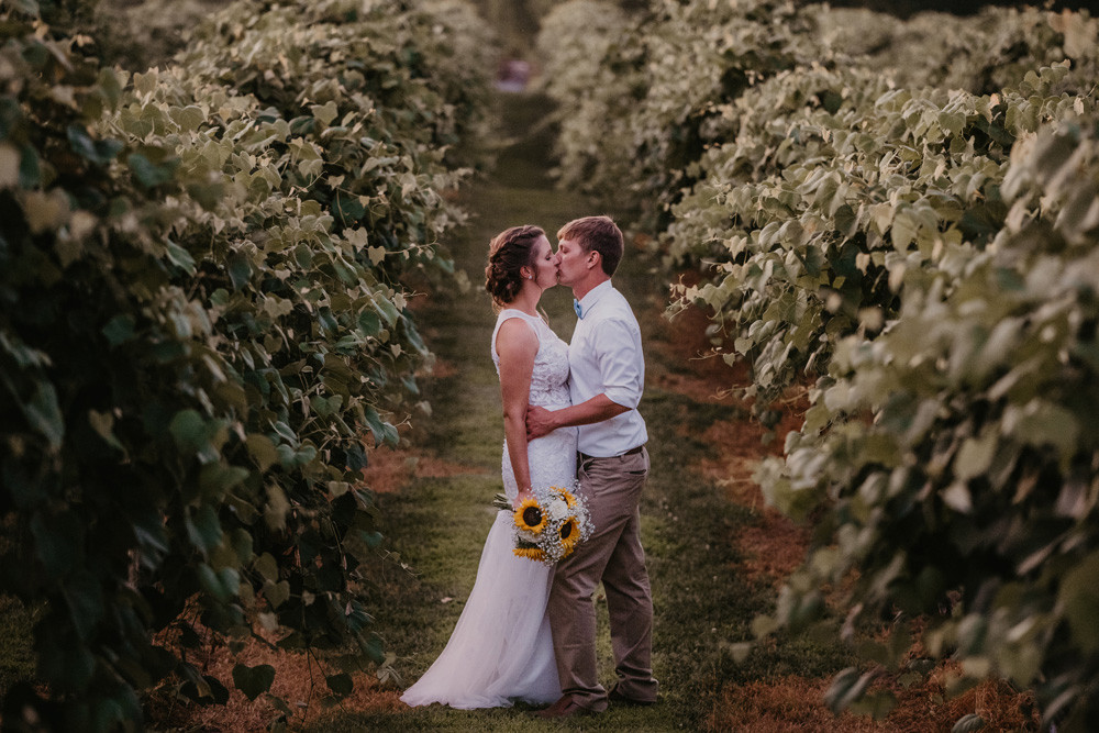 Winery Wedding Photo