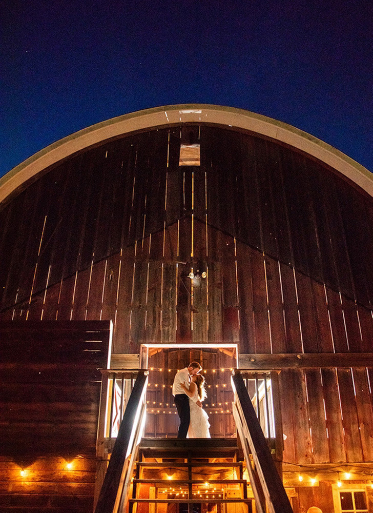 barn wedding photo