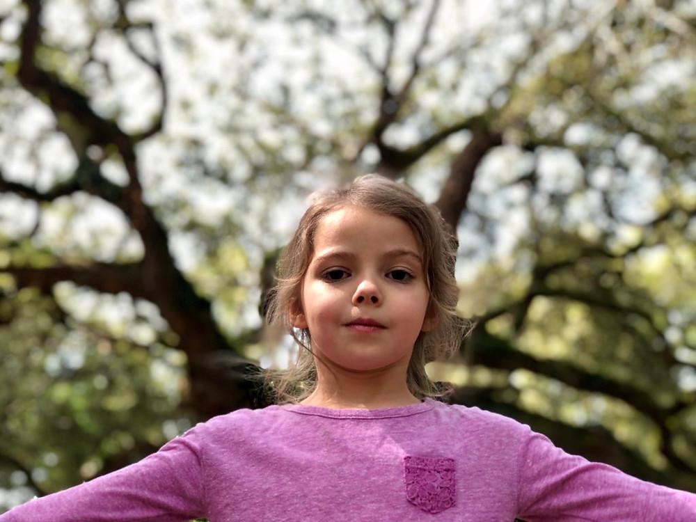 Eliette at the Angel Oak Tree near Charleston, South Carolina