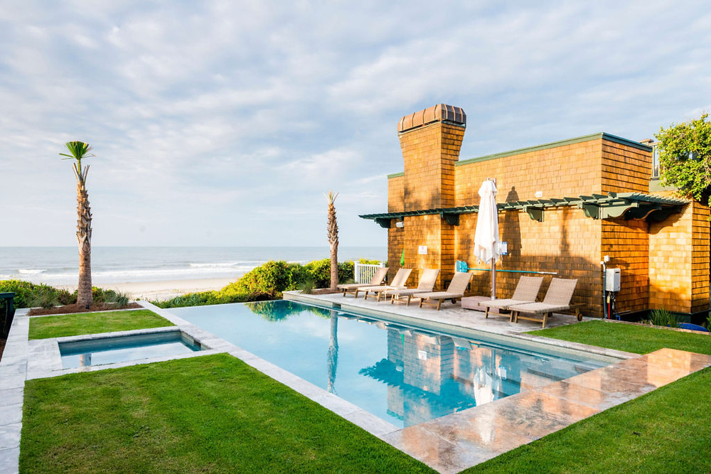 private home rental with private pool and spa, oceanfront location on Kiawah Island in South Carolina