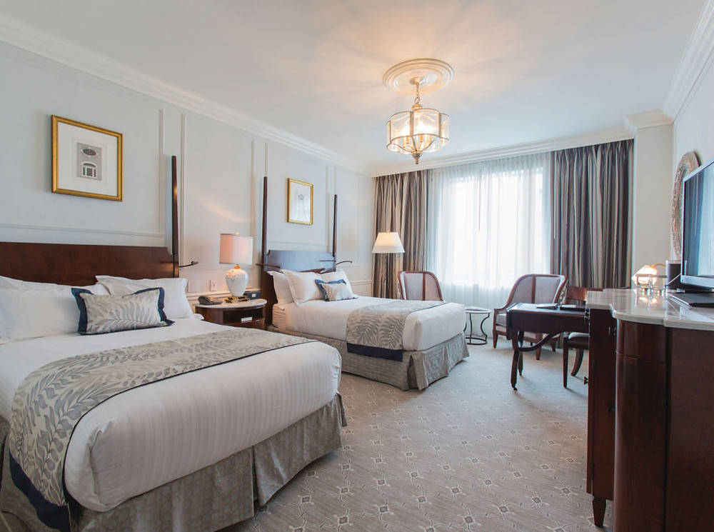 deluxe double room at Belmond Charleston Place in historic downtown Charleston, South Carolina