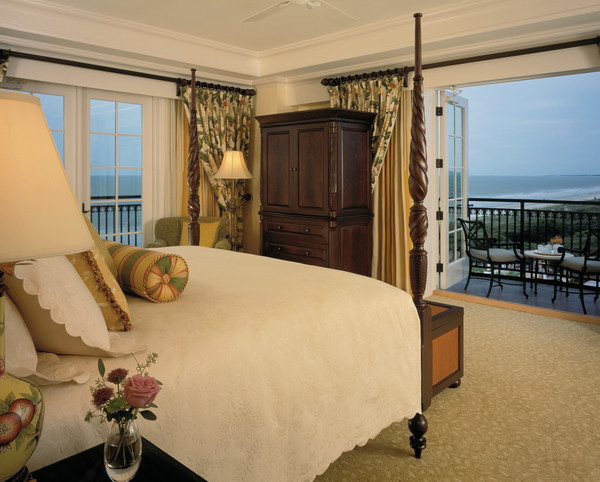 Guest room with private terrace and ocean view at The Sanctuary