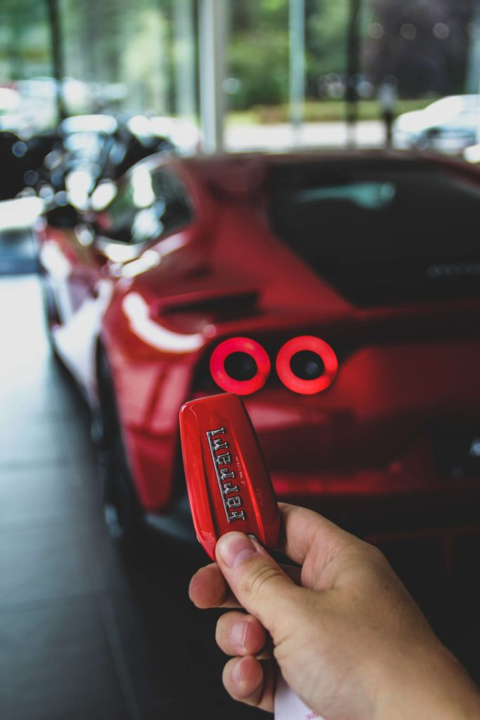 Keys to Red Ferrari