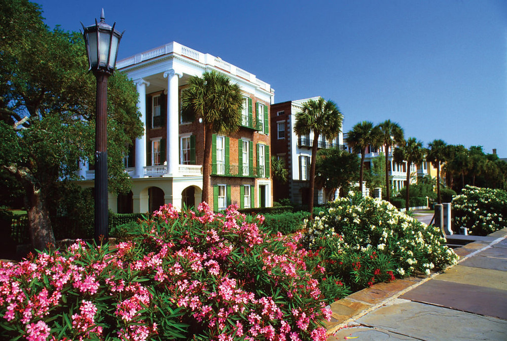 The Battery waterfront homes in Charleston, South Carolina