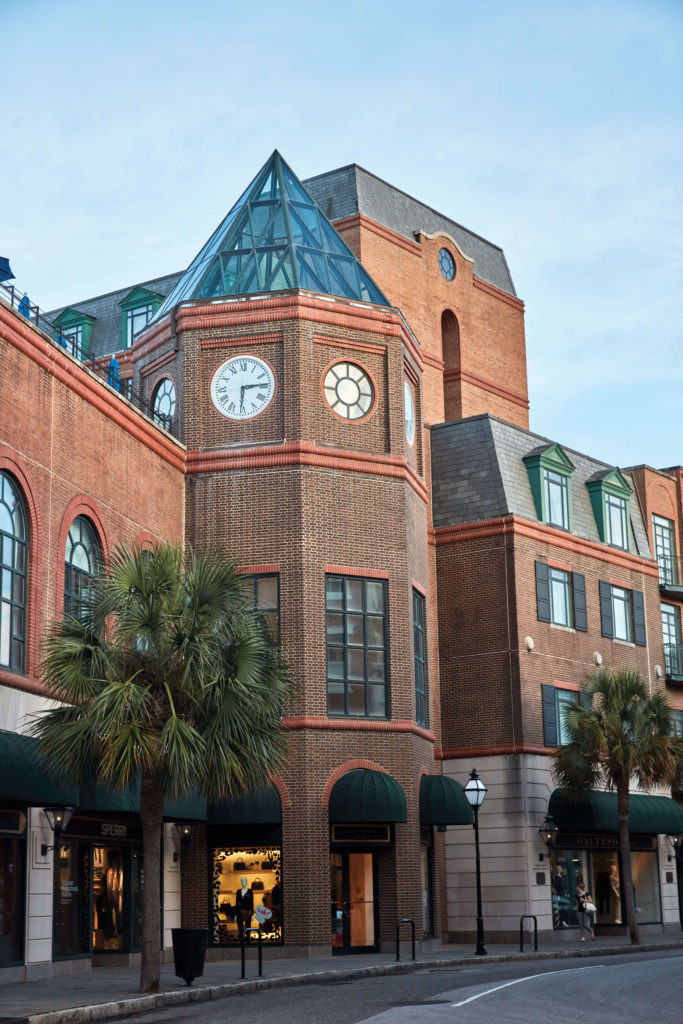 The rooftop Clocktower Terrace bar at The Belmond Charleston Place  in historic downtown Charleston, South Carolina