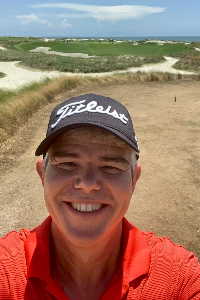 Ryne Johnson enjoying his round of gold on the Ocean Course at Kiawah Island Golf Resort for Father's Day 2019.