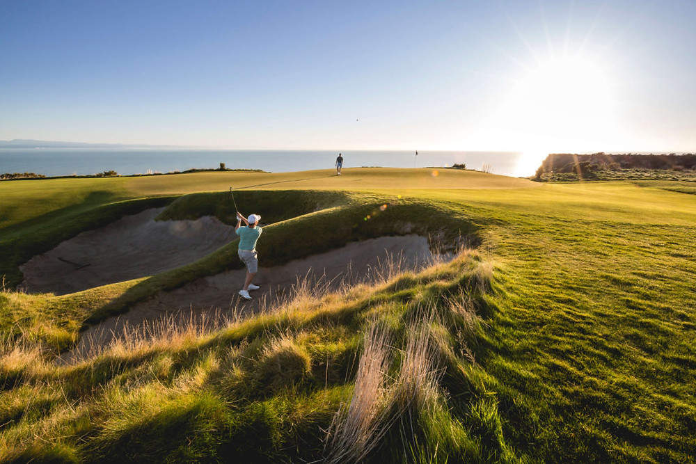 golfers at Cape Kidnappers New Zealand