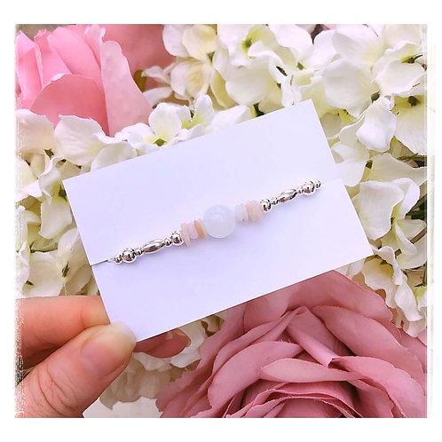 White Opal & Peruvian Opal Bracelet