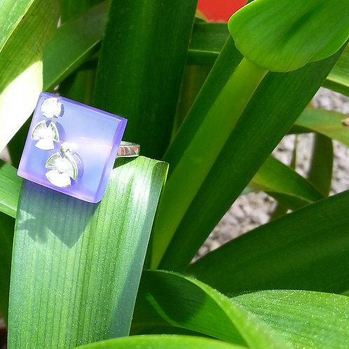 """Bague """"coquelicots"""" violet ( T56 )"""