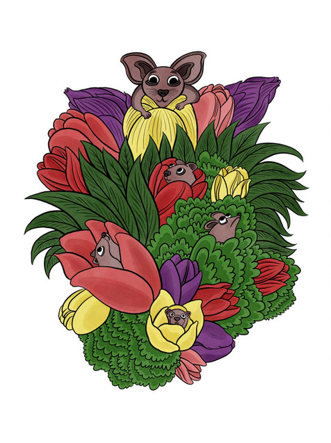 Mouse Flower Cluster