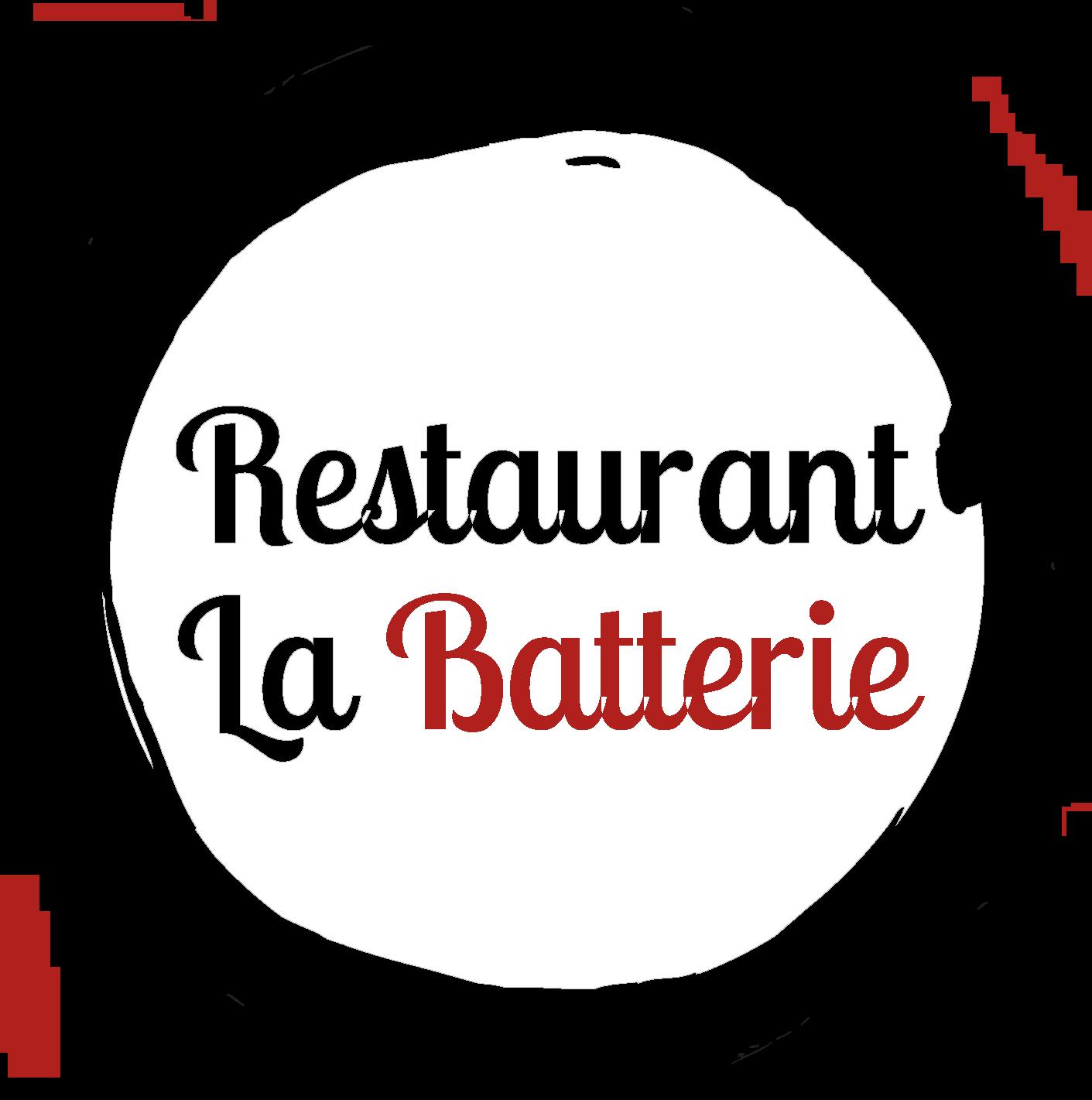 LOGO LA BATTERIE RESTAURANT BATTERIE ROU