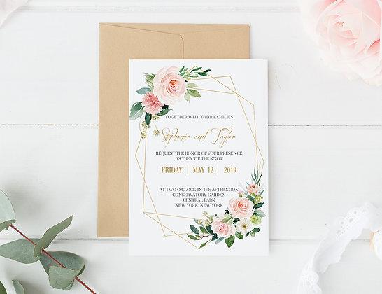 Invitatie crystal flowers