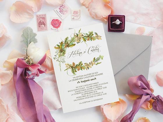 Invitatie Oak leaves