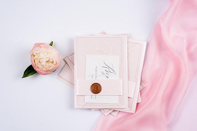 Invitatie plexi pink