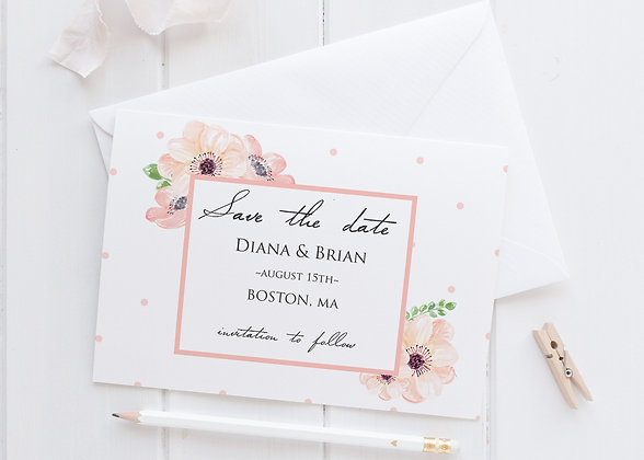 Invitatie rose mist