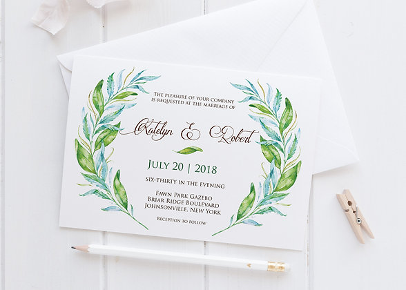 Invitatie foliage