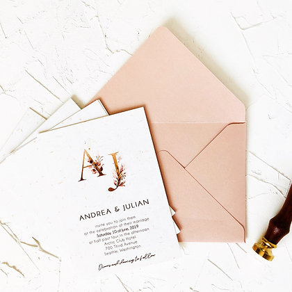 Invitatie rose gold