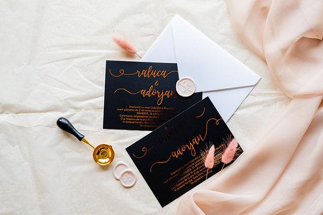 Invitatie black folio