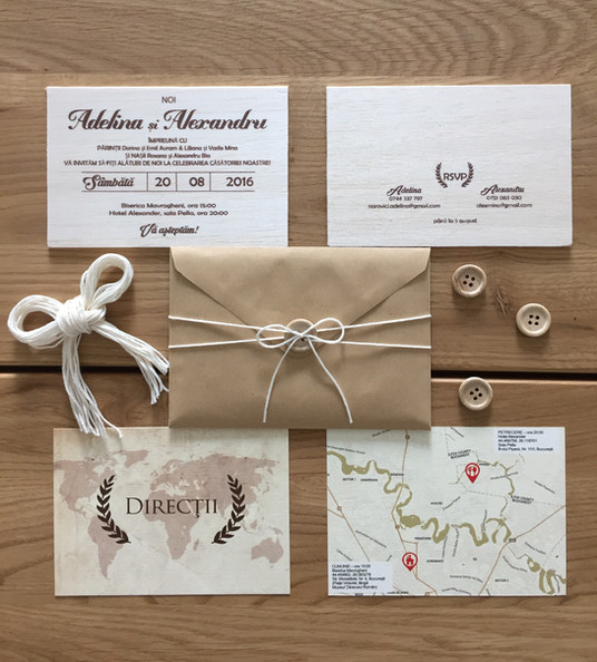 Invitatii naturale pentru o nunta boema ❣