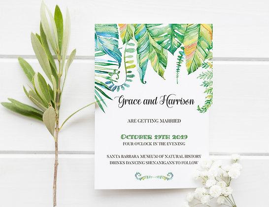 Invitatie tropical