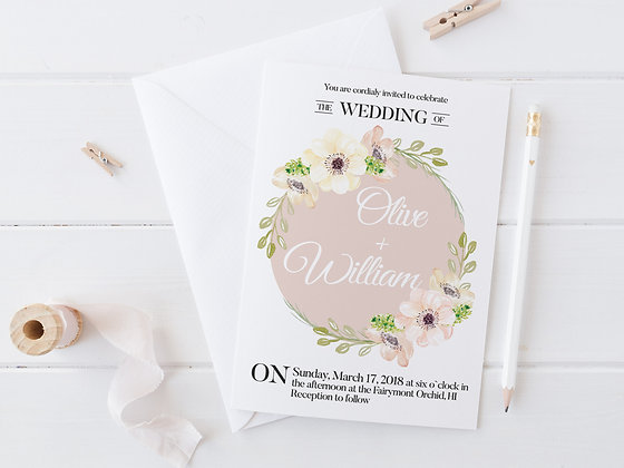 Invitatie pink anemone