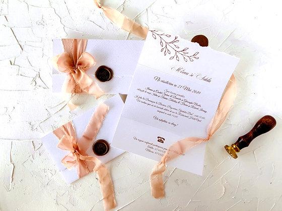 Invitatie vintage fold