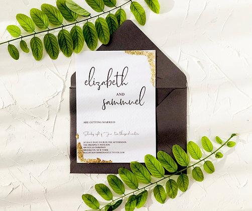 Invitatie gold leaf
