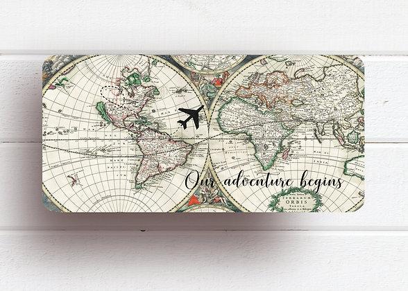 Invitatie vintage travel