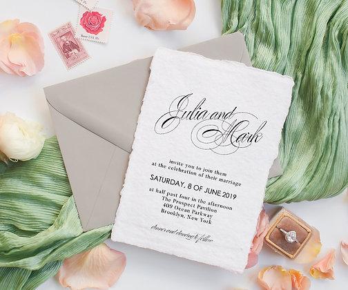 Invitatie pe hartie manuala