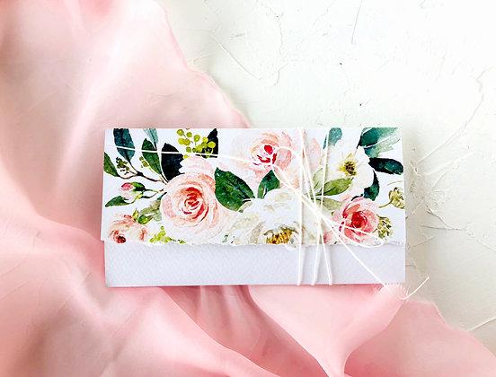 Invitatie rustic pink