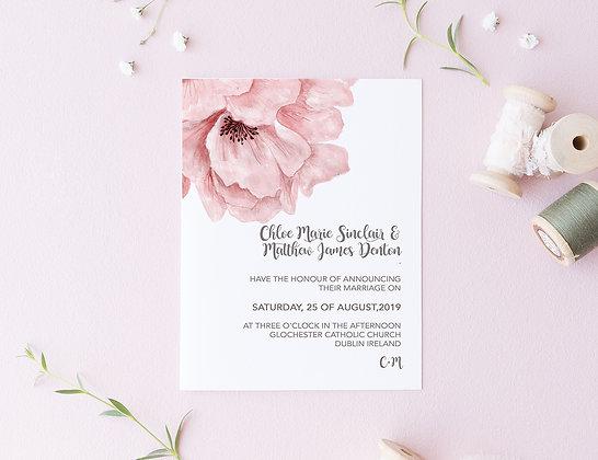 Invitatie dusty rose