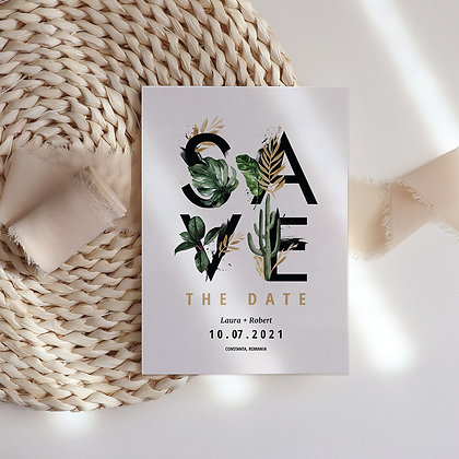 Save the date leaf